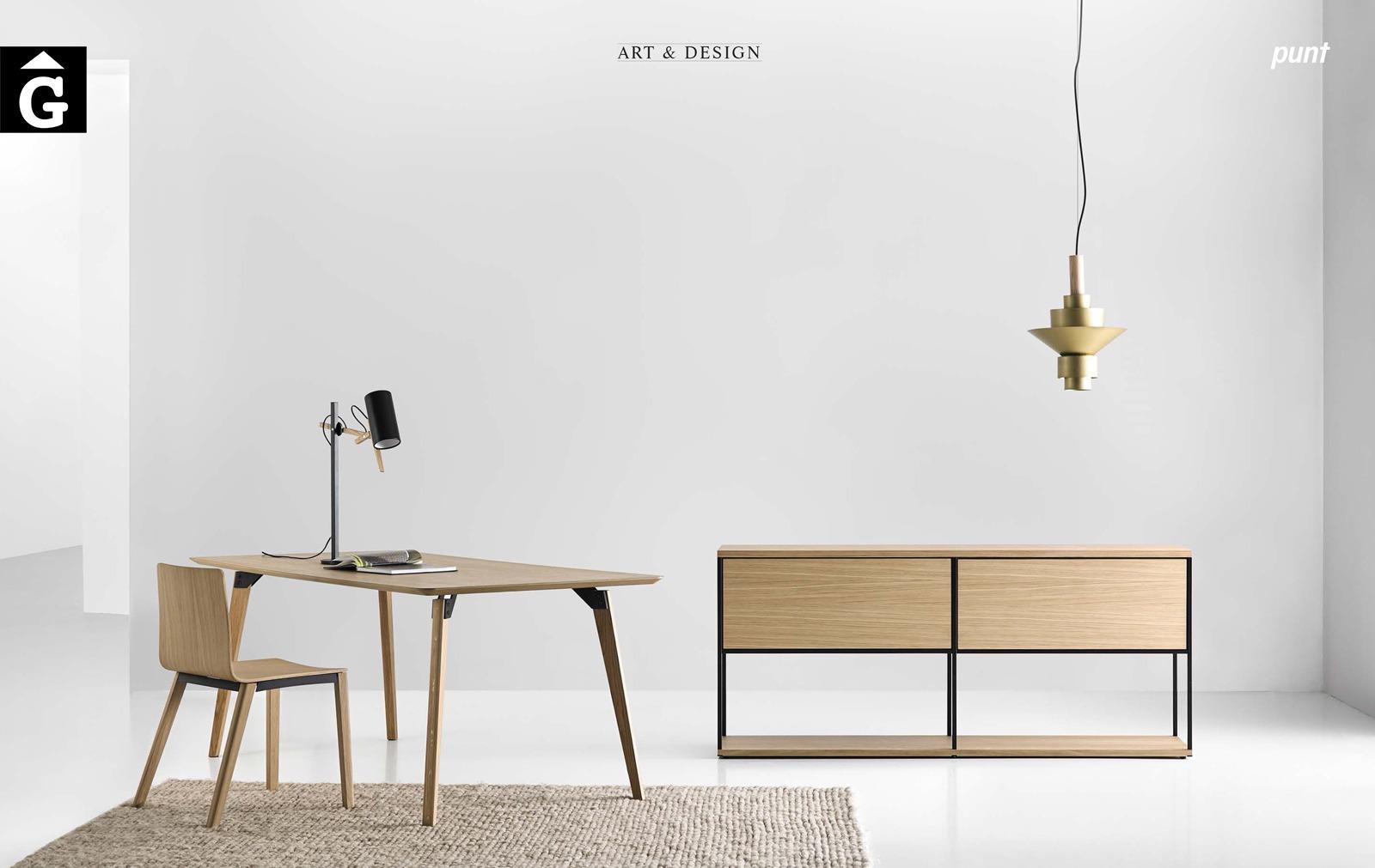 Moble aparador llibreria taula i cadira roure natural Punt mobles by mobles Gifreu