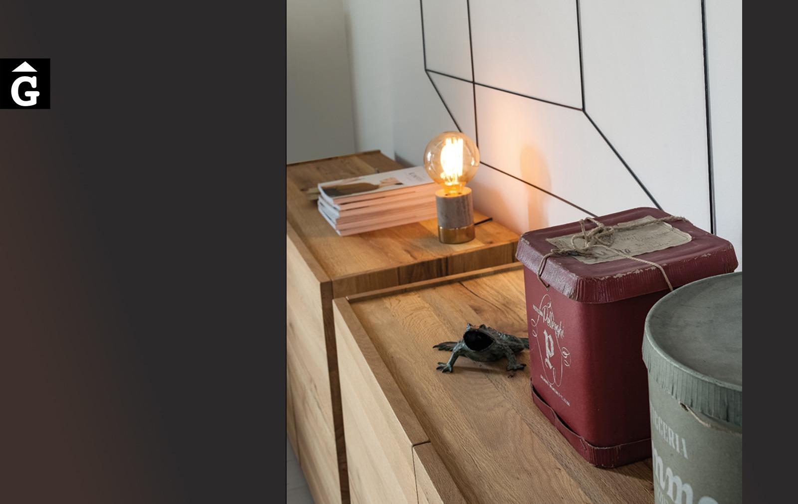 Moble Aparador Twins detall 1 M15 Devina Nais by mobles Gifreu moble massis roure disseny actual extremat qualitat premium