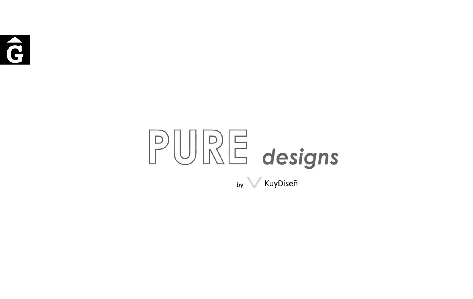 Pure design logo blanc negre Categories Marques per mobles Gifreu