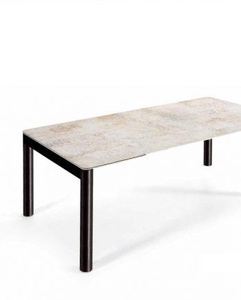 Taula Harley sobre Dekton o gres porcellànic extensible oberta Pure Designs mobles Gifreu