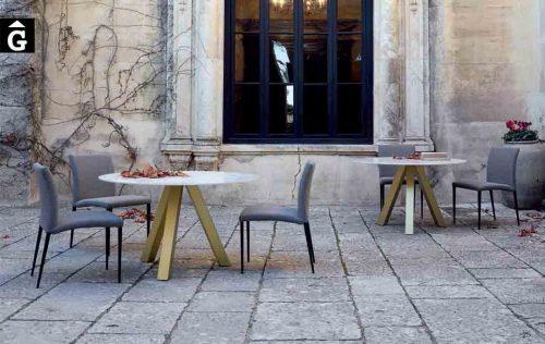 Taula-rodona-fixa-Water-sobre-Dekton-o-porcellànic-Pure-Designs-mobles-Gifreu