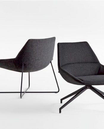 Butaca Dunas XL baixa color negre Inclass mobles Gifreu