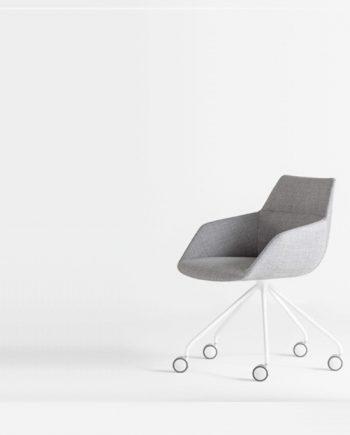 Butaca amb rodes Dunas XS peu central Inclass mobles Gifreu