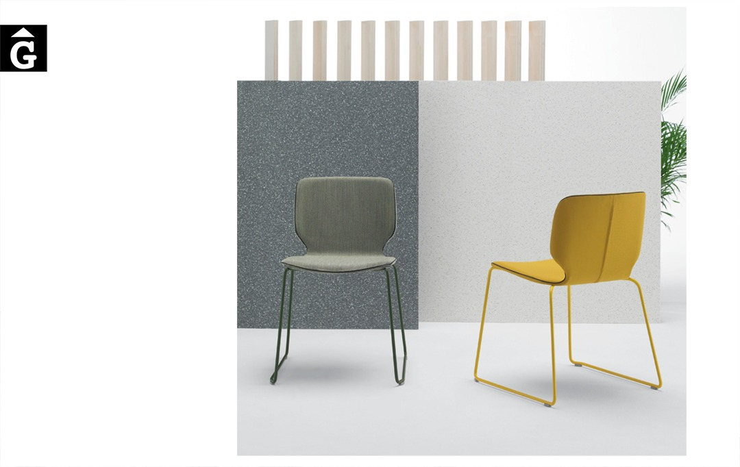 Cadira Nim entapissada color