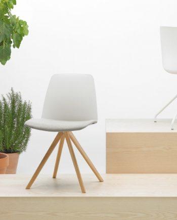 Cadira peu central Unnia Inclass mobles Gifreu