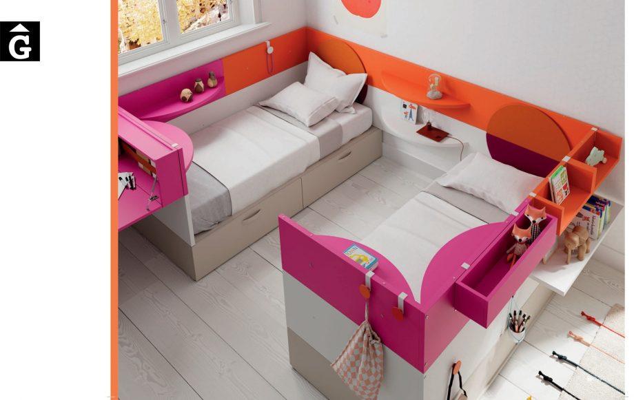 Habitació Juvenil Nest 2 llits Infinity 2 Jotajotape jjp by mobles Gifreu