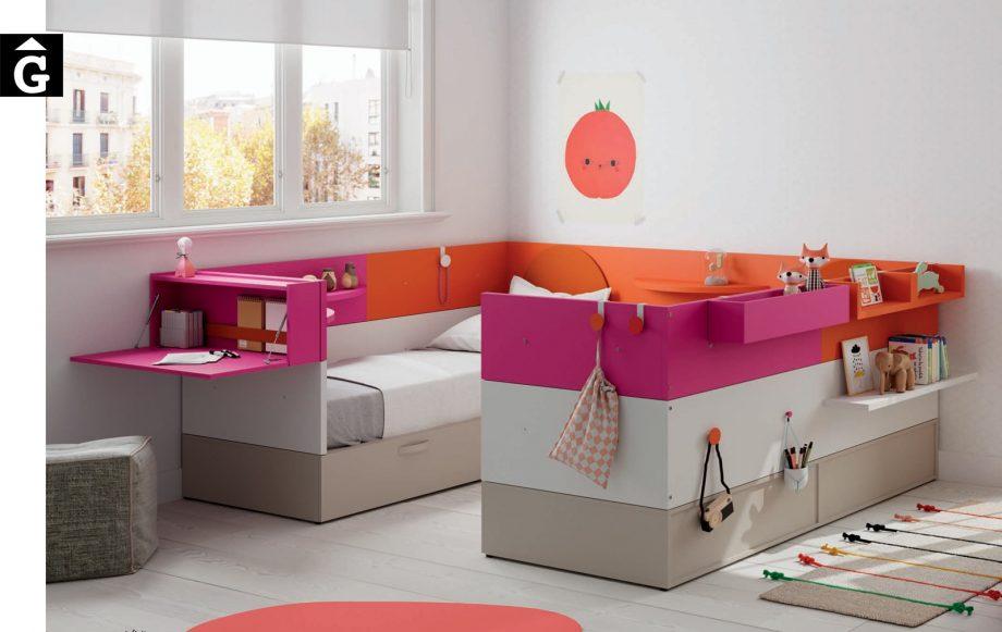 Habitació juvenil Nest 2llits color Infinity 2 Jotajotape jjp by mobles Gifreu