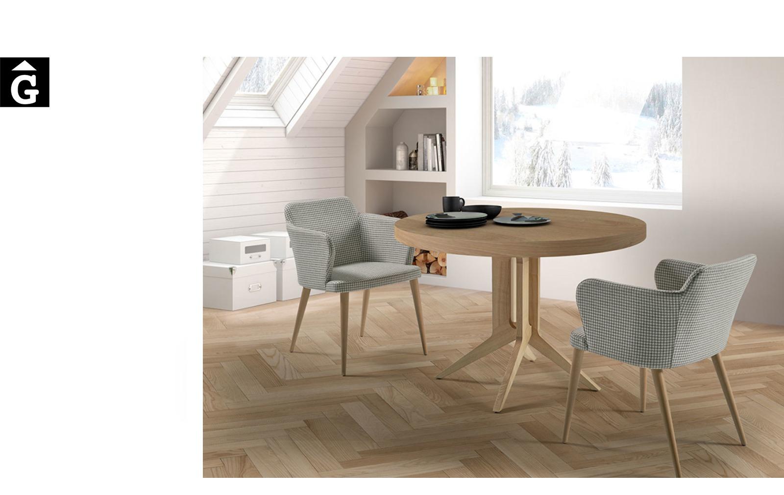 Taula Rodona Londres Doos by mobles Gifreu taules i cadires alta qualitat
