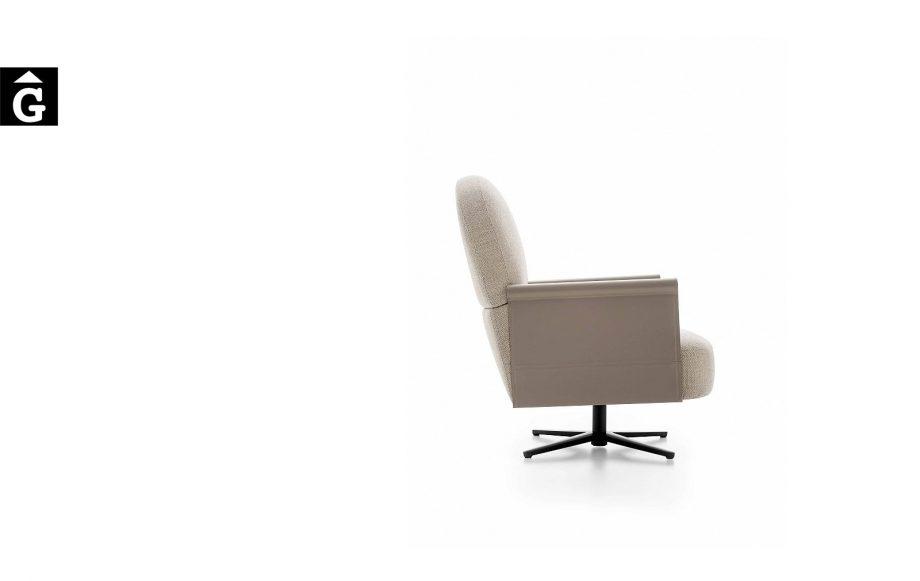 Butaca Beyl Alta de perfil - Ditre Italia Sofas disseny i qualitat alta by mobles Gifreu