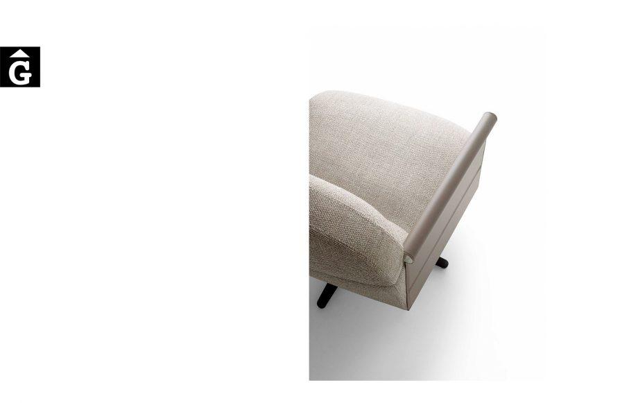 Butaca Beyl detal braç pell - Ditre Italia Sofas disseny i qualitat alta by mobles Gifreu