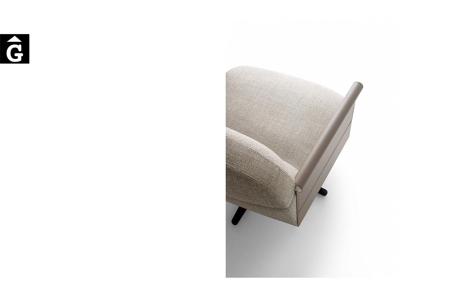 Butaca Beyl detal braç pell – Ditre Italia Sofas disseny i qualitat alta by mobles Gifreu
