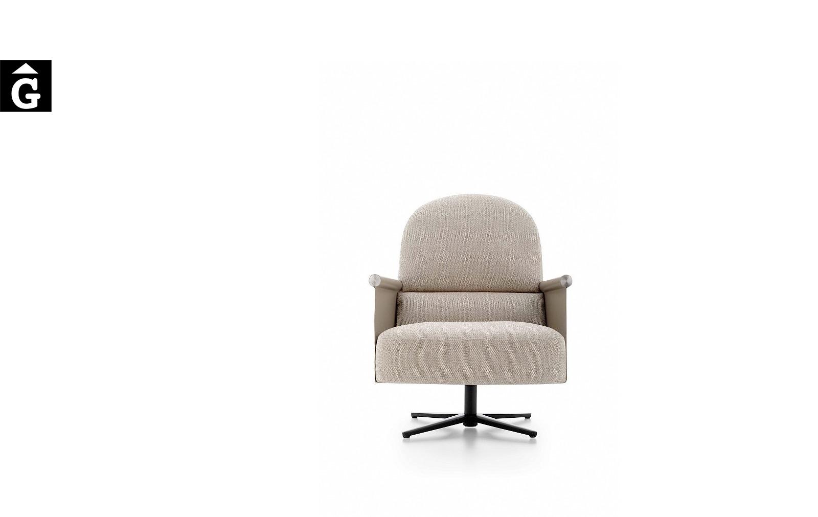 Butaca Beyl giratoria i molt elegant – Ditre Italia Sofas disseny i qualitat alta by mobles Gifreu