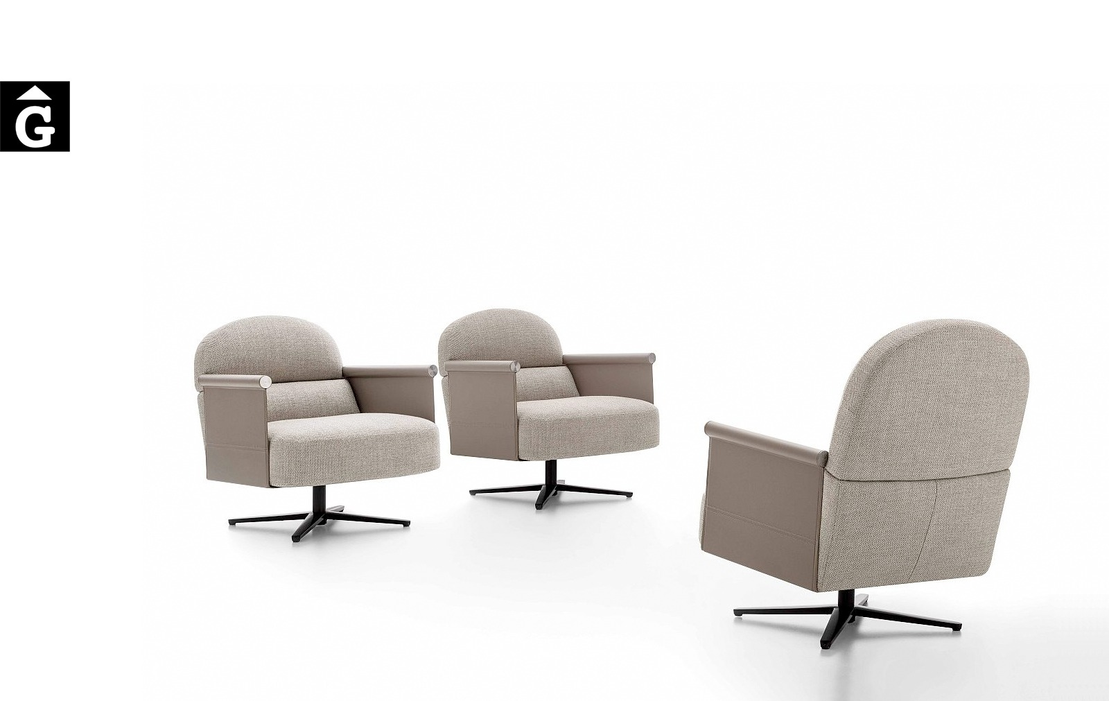 Butaques Beyl giratòries i molt elegants – Ditre Italia Sofas disseny i qualitat alta by mobles Gifreu