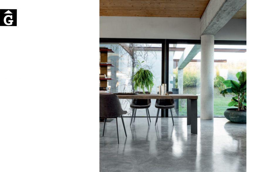 Taula menjador Master ambient ciment i verd Devina Nais V2 by mobles Gifreu