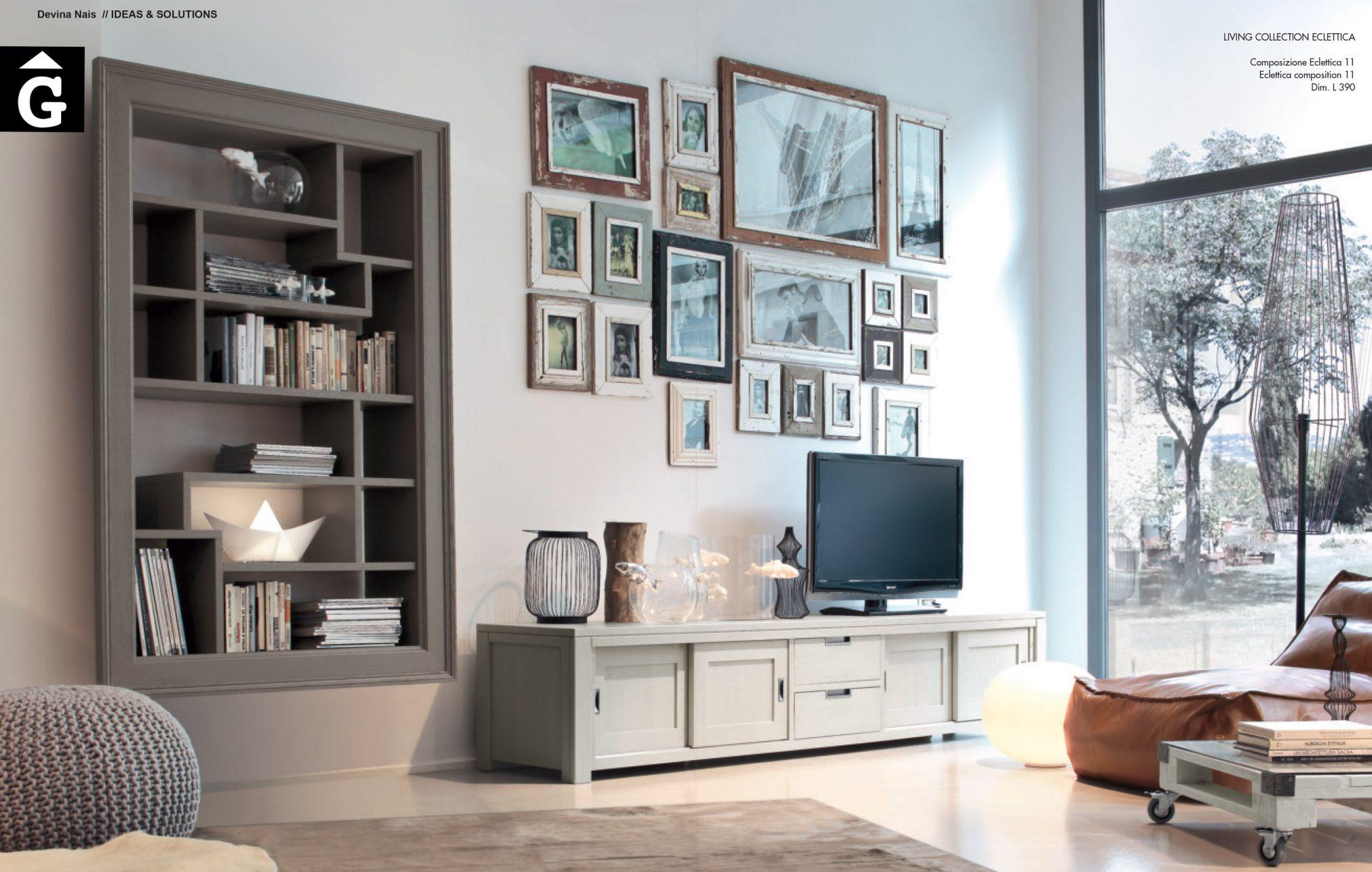 Moble TV Eclettica roure massís pintat Devina Nais V2 by mobles Gifreu