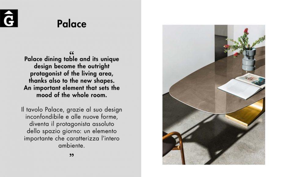 Taula menjador Palace de Sovet detall forma pataca sobre per mobles Gifreu