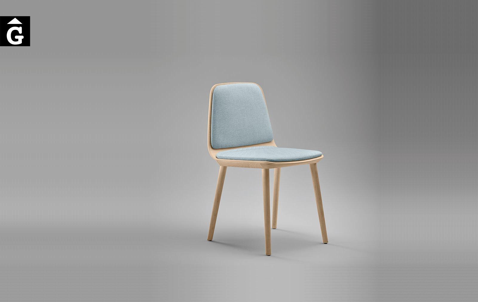 Cadira Bisell potes fusta fons gris Treku Home selecció Gifreu mobles
