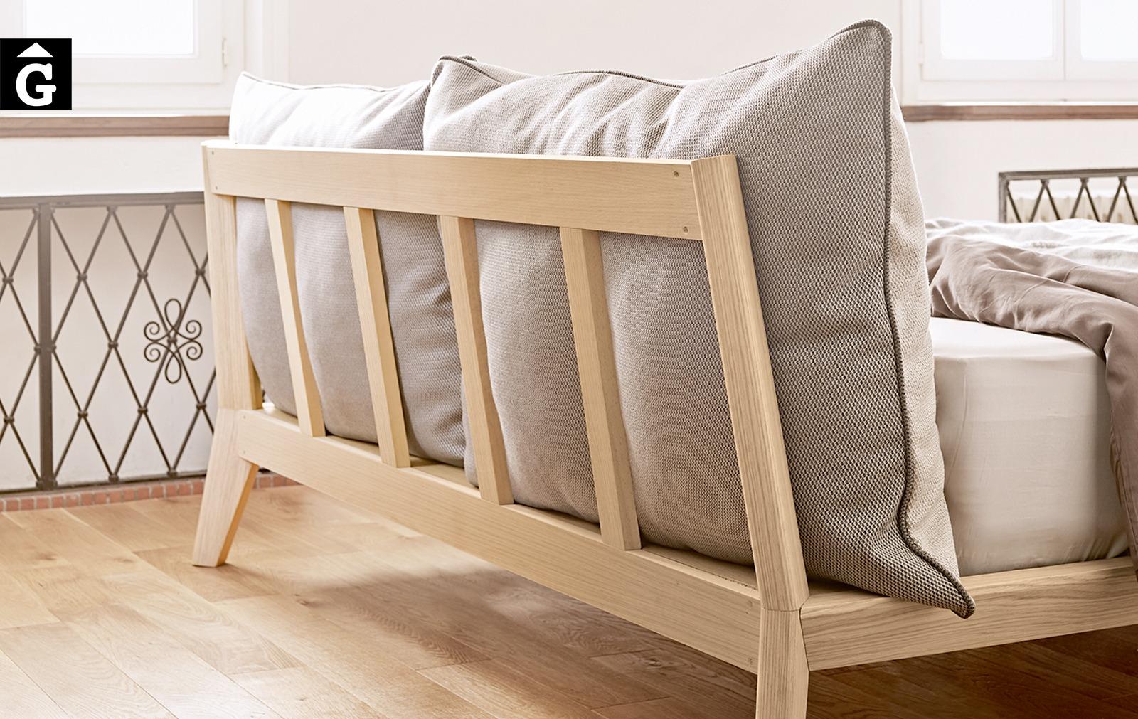 Llit Bora detall darrera capçal Treku Home selecció Gifreu mobles