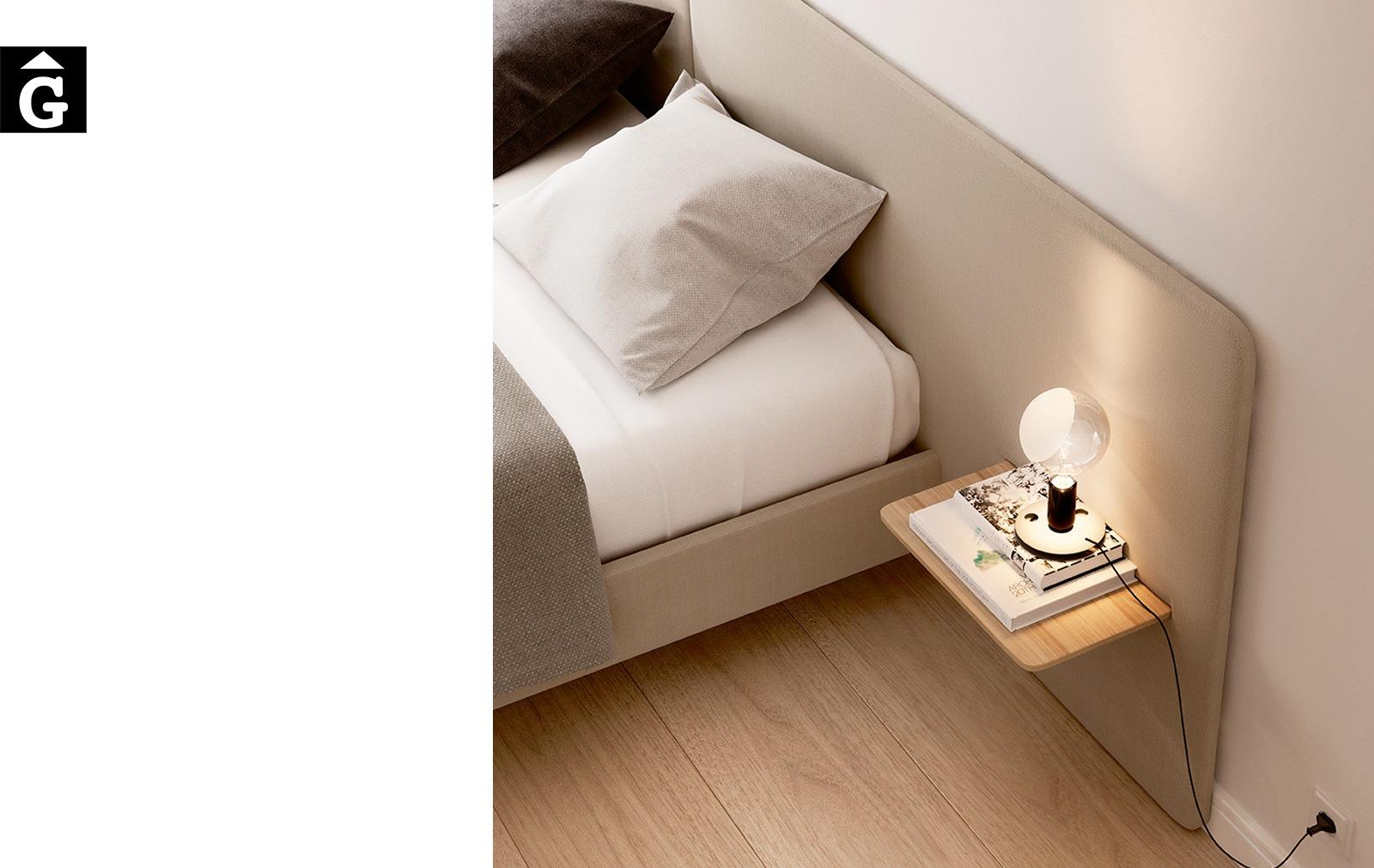 Llit Lota entapissat detall capçal Treku Home selecció Gifreu mobles Girona