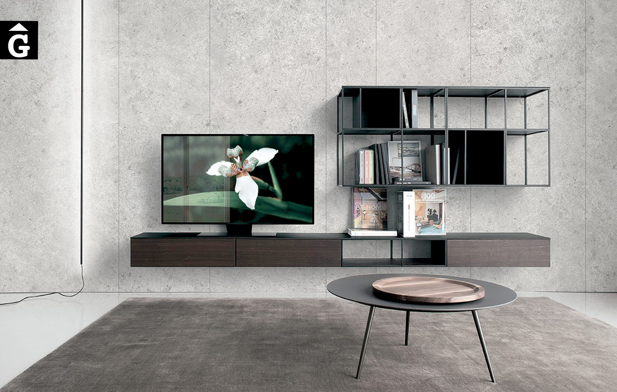 Moble Tv Atelier AT6 frontal Extendo Design Source by mobles Gifreu botiga elements interiors