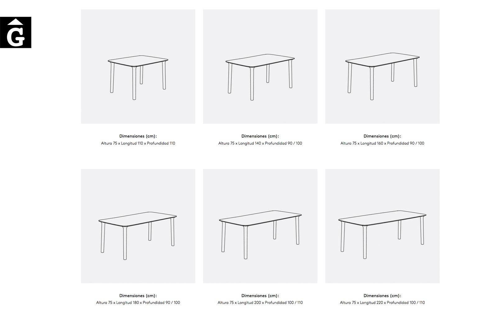 Taula Roll mides possibles Treku Home selecció Gifreu mobles