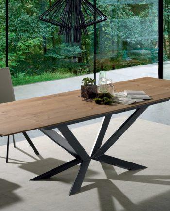 Taula extensible fusta i ferro Motion