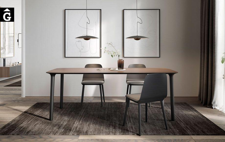 Taula menjador Roll rectangular cantonades arodonides Treku Home by mobles Gifreu