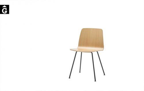 Cadira fusta i pota metàlica Varya | Inclass cadires tamborets i taules | mobles Gifreu