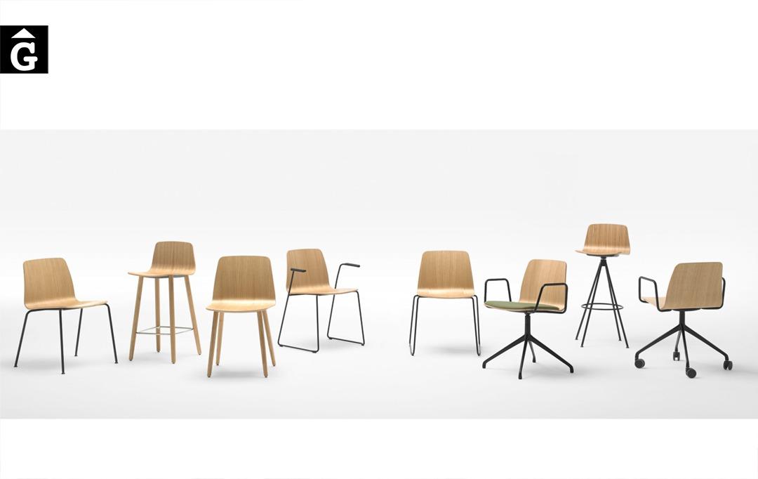 Cadires i Tamborets Varya Wood | Simon Pengelly | London | Inclass cadires tamborets i taules | mobles Gifreu