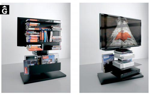 Moble TV Girogio System SY20C llibreria revister minimal Extendo Design Source by mobles Gifreu botiga elements interiors