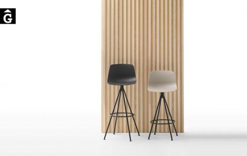 Tamboret Varya potes metall forma cònica de Inclass cadires tamborets i taules | mobles Gifreu