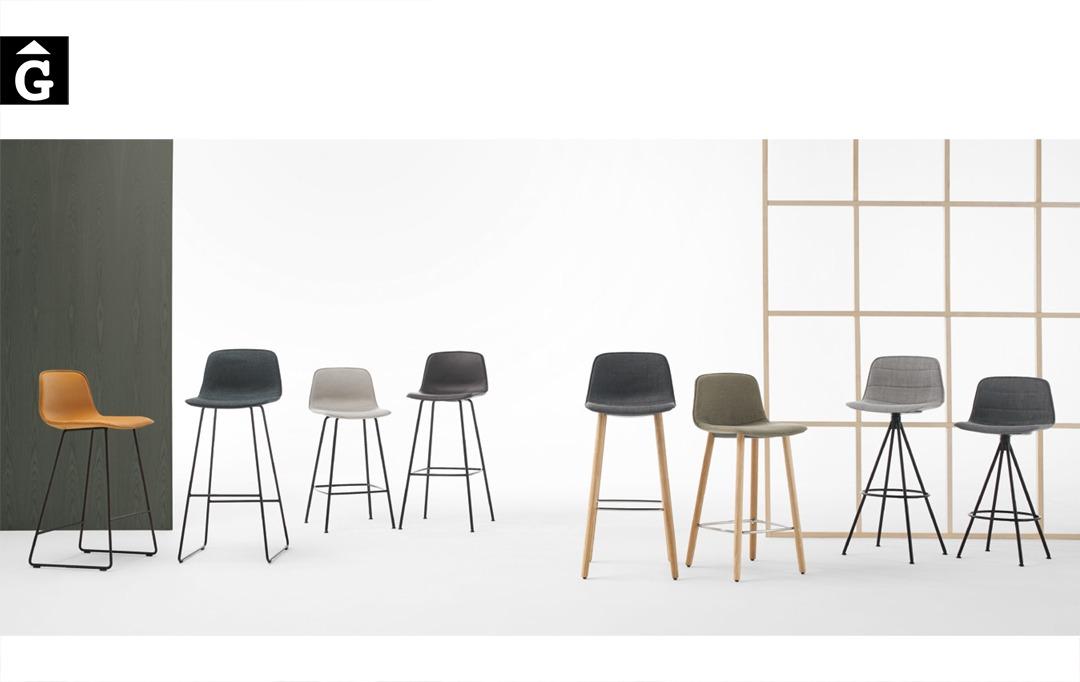 Tamborets Varya entapissats diferents potes | Inclass cadires tamborets i taules | mobles Gifreu