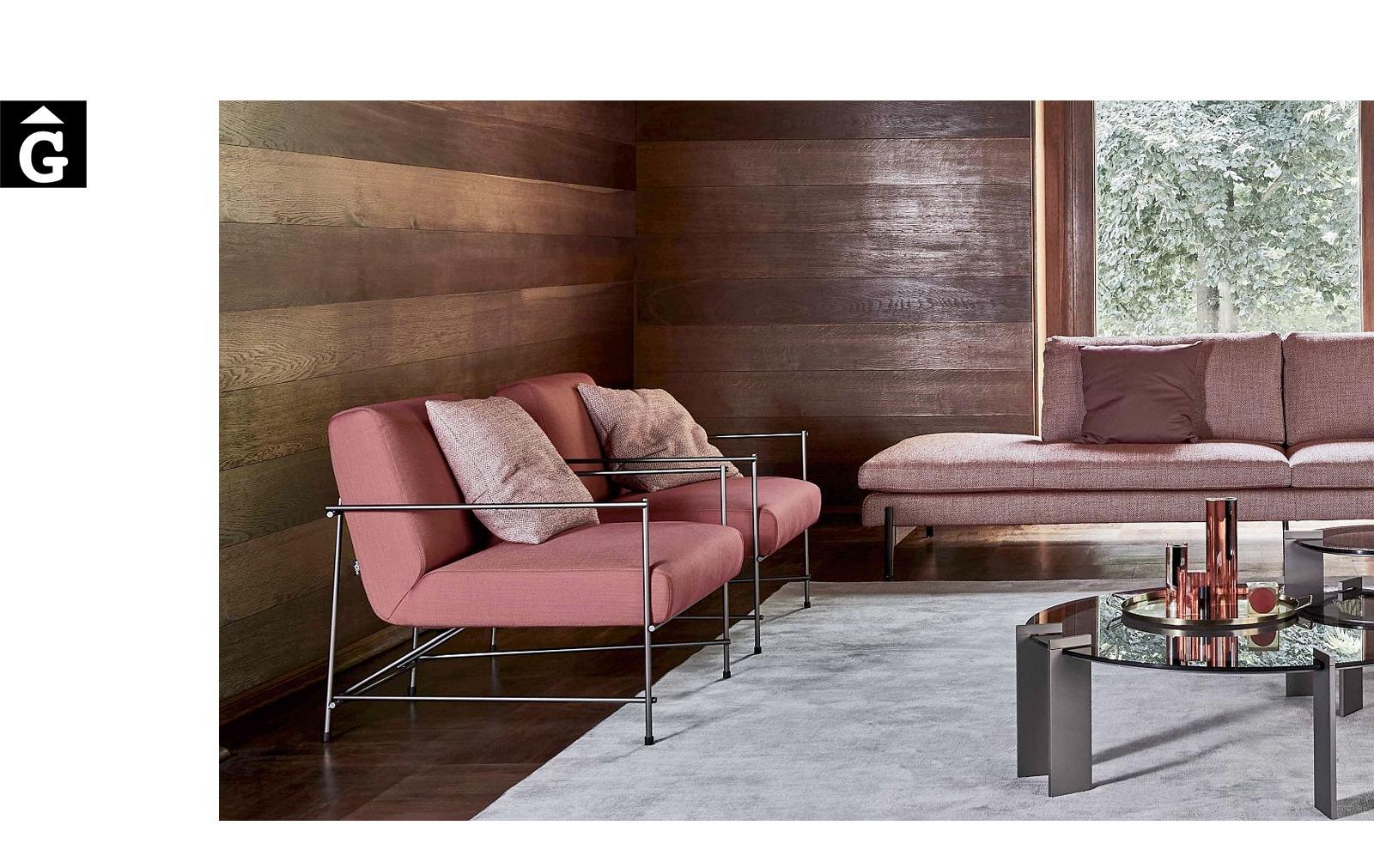 Butaca Kyo ambient tons terra - Ditre Italia Sofas disseny i qualitat alta by mobles Gifreu