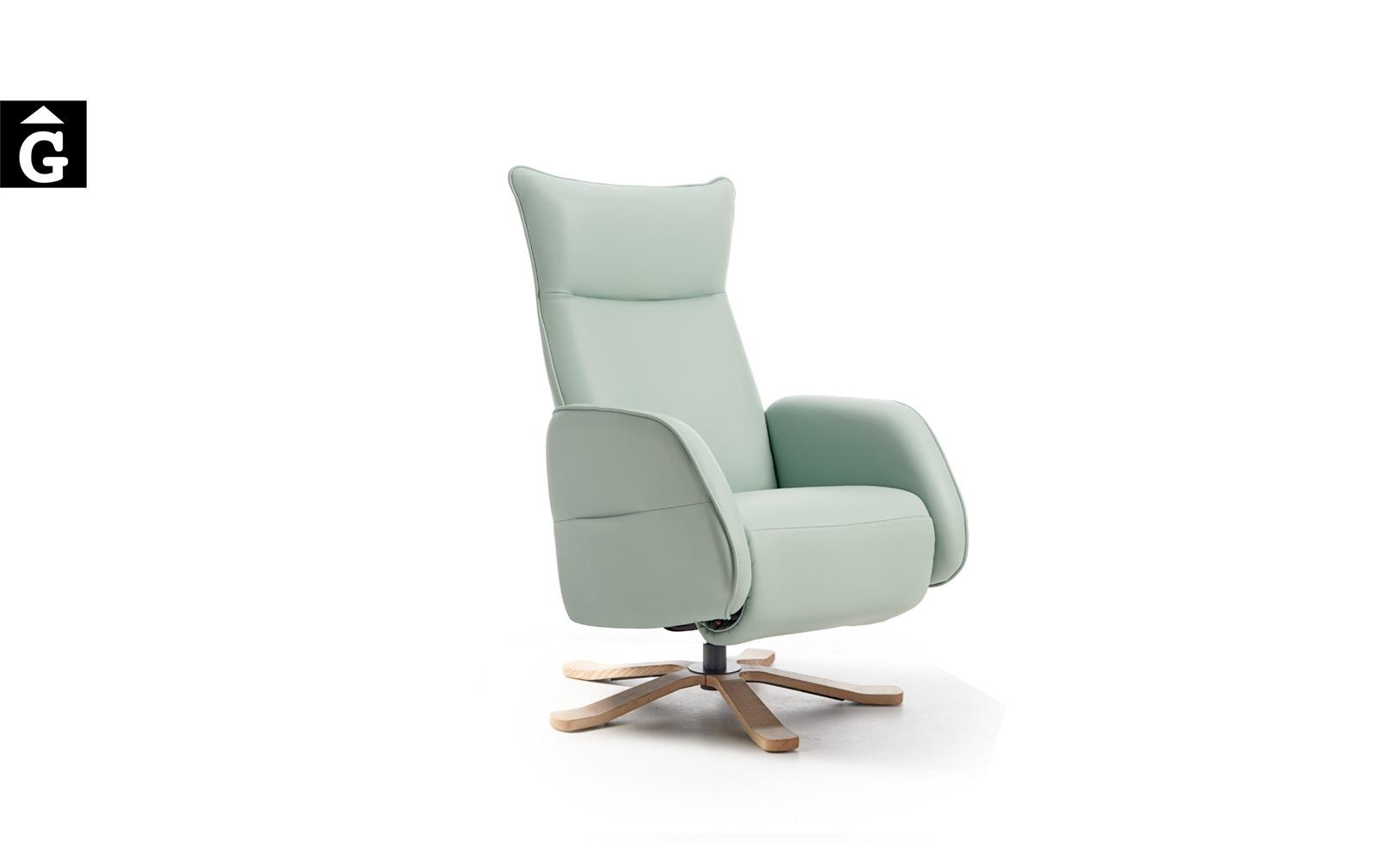 Butaca relax Bora giratoria pota fusta | Reys Ordoñez Sofas disseny i qualitat alta by mobles Gifreu