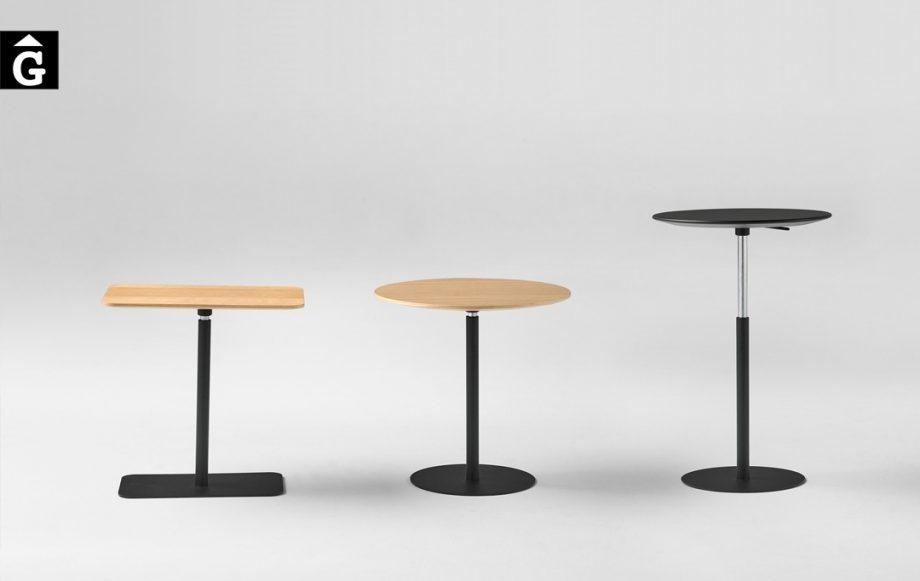Taula auxiliar elevable ideal per treballar amb ordinadors des del sofà | suport copes | Inclass cadires tamborets i taules | mobles Gifreu