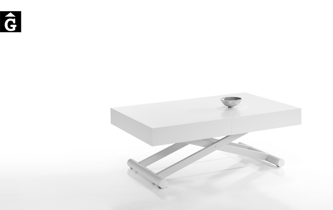 Taula centre elevable Activa blanca   Indesan   taules   mobles Gifreu