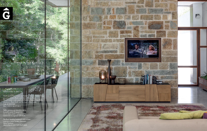 Moble Tv Zero 16 Holand Grey i Black   Devina Nais V2   mobles Gifreu