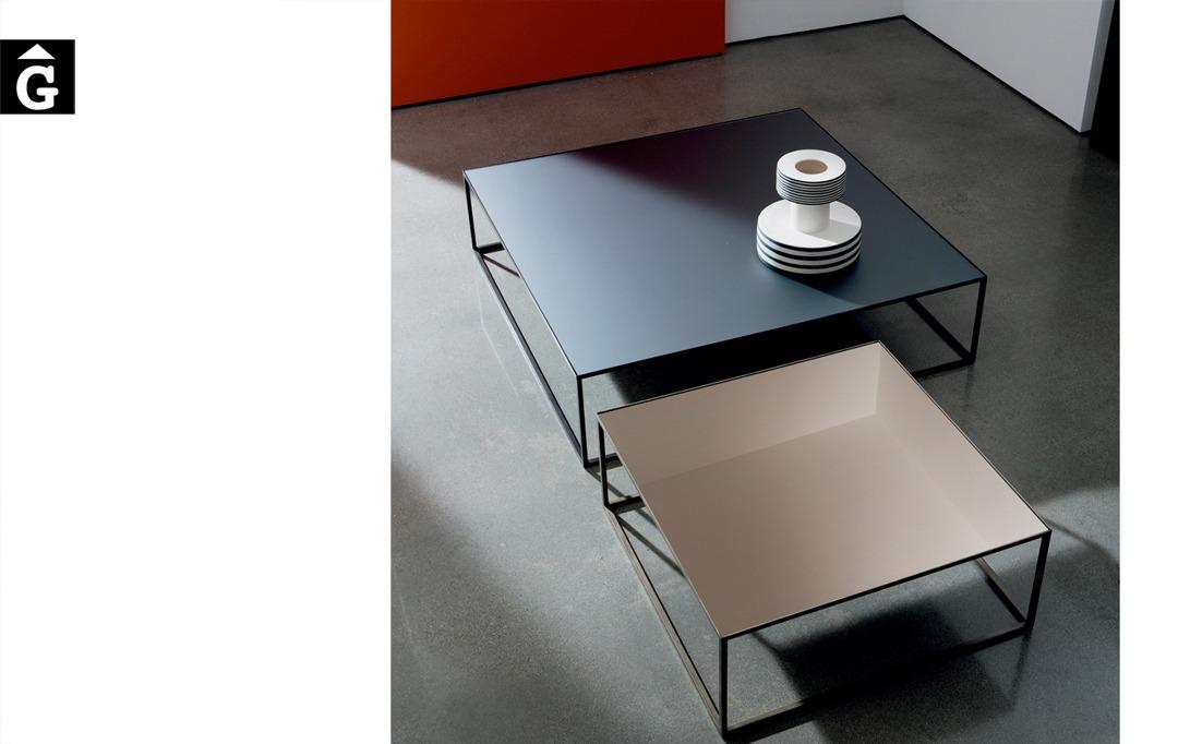 Taules de centre Quadro sobre vidre i mirall design Lievore Altherr Molina | Sovet |mobles Gifreu