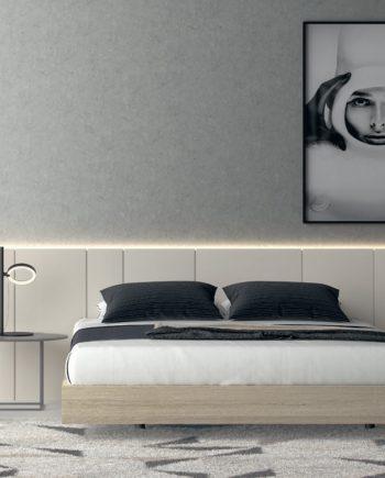 Habitació llit gran capçal panel llis Seven   Besform mobles Gifreu Girona qualitat i a mida