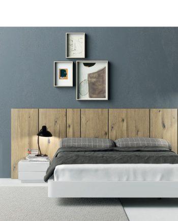 Moble habitació llit gran roure nuos   Besform mobles Gifreu Girona qualitat i a mida