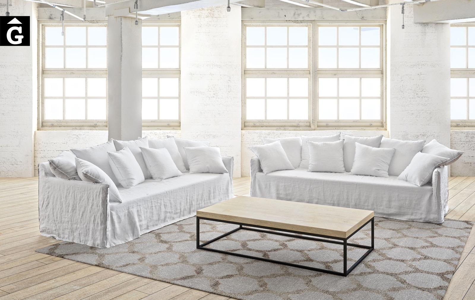 Sofà Linus | Atemporal | Ambient industrial | Ethical home interiors | Gifreu | sofas | Girona
