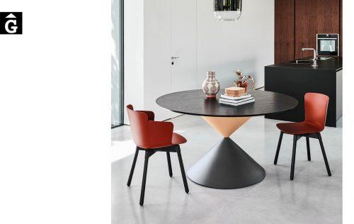 Taula rodona Clessidra 3 acabats | MIDJ | mobles Gifreu | Productes de qualitat