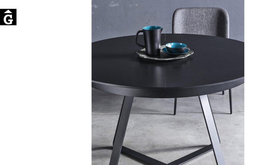 Taula rodona extensible Paul detall   MIDJ   mobles Gifreu   Productes de qualitat