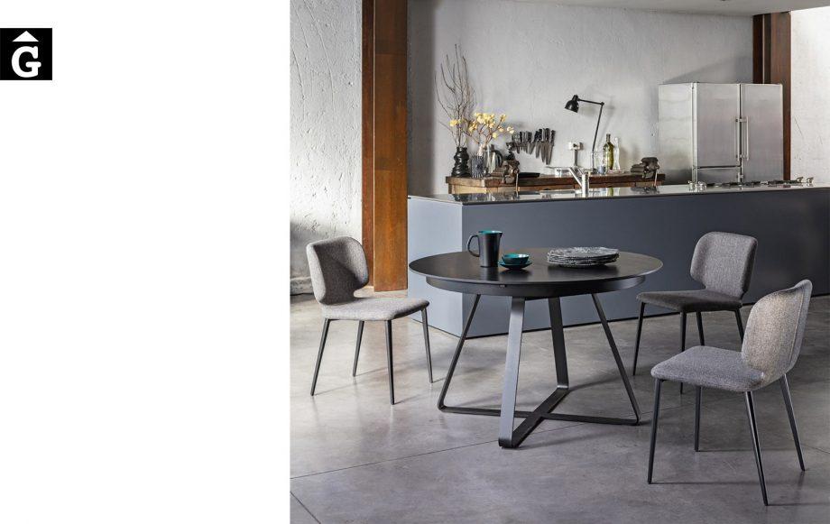 Taula rodona extensible ambient Loft   MIDJ   mobles Gifreu   Productes de qualitat