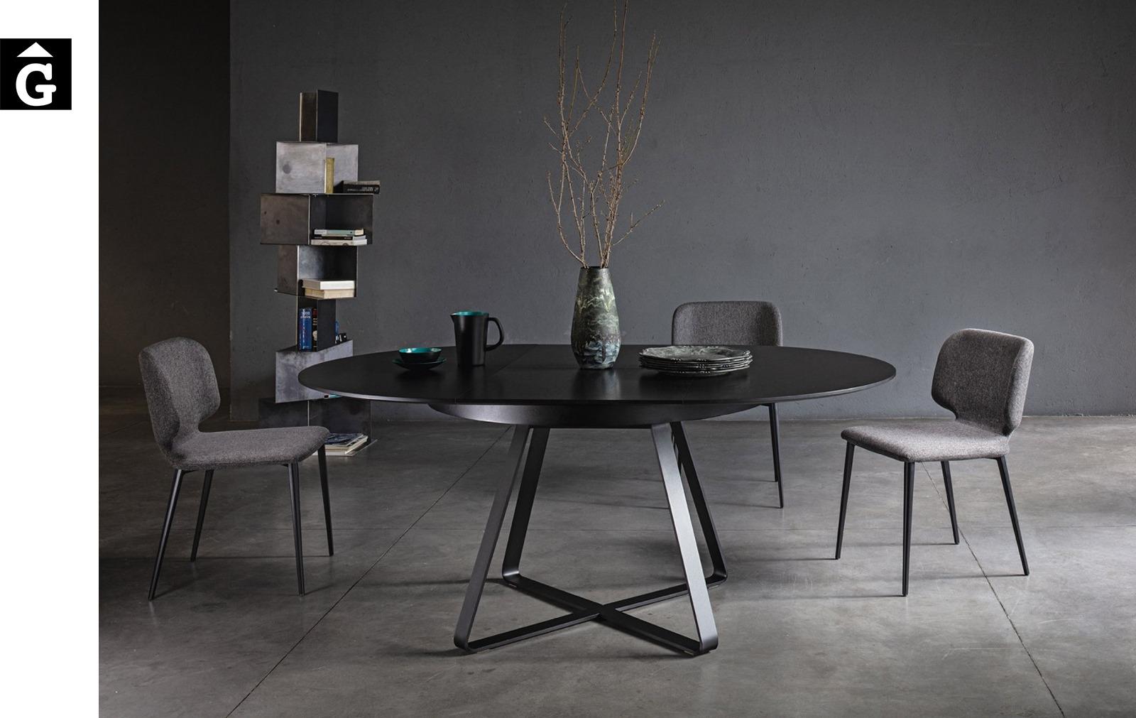 Taula rodona extensible ambient selecta   MIDJ   mobles Gifreu   Productes de qualitat