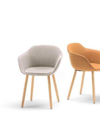Cadira entapissada amb braços Taia   Inclass cadires tamborets i taules   mobles Gifreu