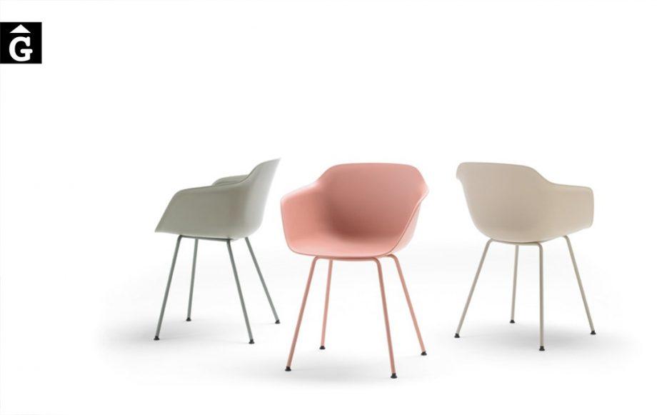 Cadires Taia 4 potes metall   Inclass cadires tamborets i taules   mobles Gifreu