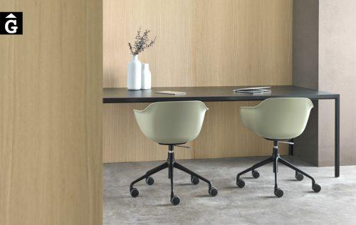 Cadires Taia polipropilè i rodes | Inclass cadires tamborets i taules | mobles Gifreu