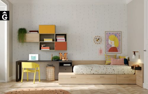 Habitació Juveil amb llit niu | Kubox I lagrama | mobles Gifreu