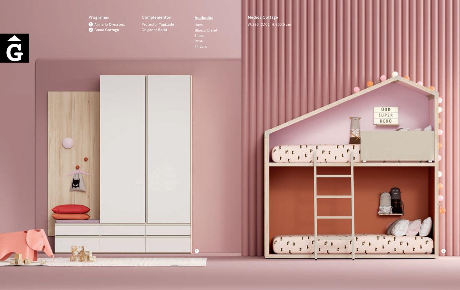 Habitació Juvenil amb Llitera Cottage Pink I lagrama   mobles Gifreu